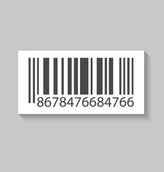 business barcode isolated icon vector image