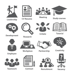 Business management icons Pack 20 vector image