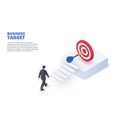 business target design concept isometric vector image