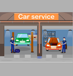 Car service promotional banner template vector