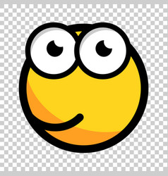 cartoon face icon in flat style smiley face on vector image