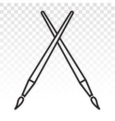 Classic paintbrush paint brush icons vector