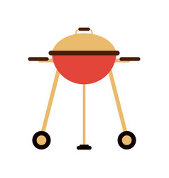 Closed bbq grill icon image vector