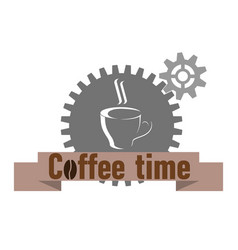 coffee shop logo with inscription vector image