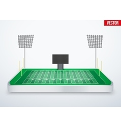 Concept of miniature tabletop American football vector image