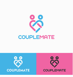 Couple mate logo template vector