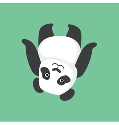 Cute Panda Character Laying On The Back vector