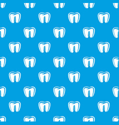 Denture implant pattern seamless blue vector