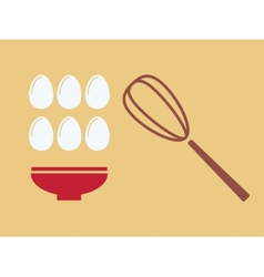 Eggs with plate vector