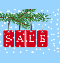 eps 10 christmas sale banner with red posters vector image
