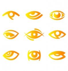 Eye symbols vector