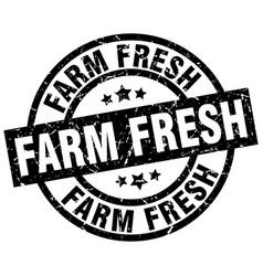 Farm fresh round grunge black stamp vector