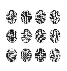 Finger print icons vector