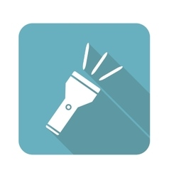 Flashlight icon square vector