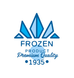 frozen product premium quality since 1935 vector image