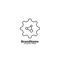 Gear tech and mechanial engineering logo vector