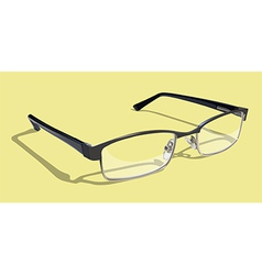 Glasses With Yellow Background vector image