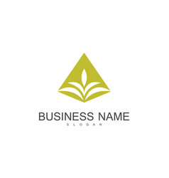 gold leaf business logo vector image