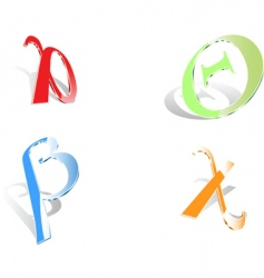 Greek letters vector image