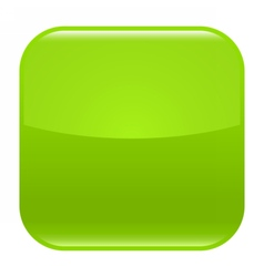 Green glossy button blank icon square empty shape vector