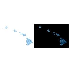 Havaii islands map hex-tile scheme vector