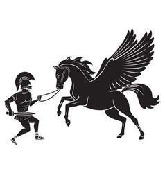 Hercules and Pegasus vector image