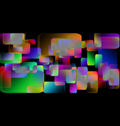Iridescent stains on chaotically scattered vector