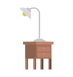 Isolated lamp over table design vector image