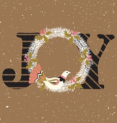 Joy hand lettering vector image