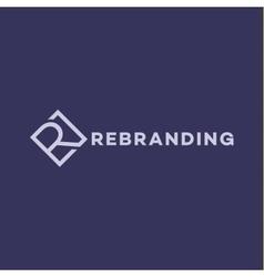 Letter r logo flat style vector