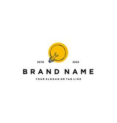 Light bulbs logo design vector