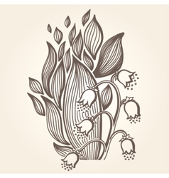 Lilies of the valley flower vector image