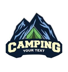 logo mountain adventure camping climbing vector image
