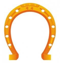 Lucky horseshoe vector