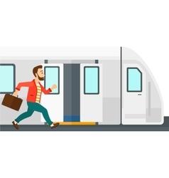 Man missing train vector