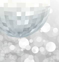 Mirror ball party background vector
