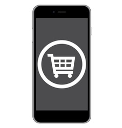 mobile phone shopping icon vector image