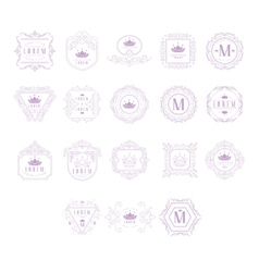 Monogram design template set vector