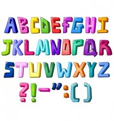 multicolor letters vector image