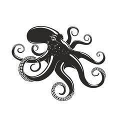 octopus ocean seafood mollusc icon vector image