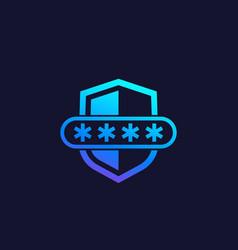 Password access computer security icon vector