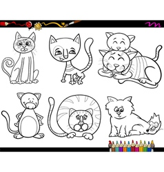 people with pets coloring page vector image