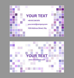Purple square design business card template vector image