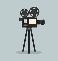 retro cinema film camera vector image