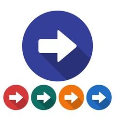 Right direction arrow icon vector