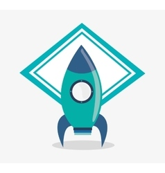 Rocket toy and game design vector image