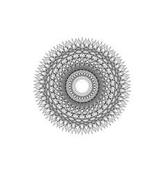 Round mandala beautiful geometric lady ornament vector