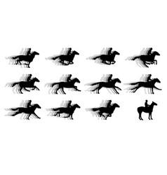Running horses sillhouette movie clip art vector