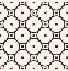 seamless pattern with rounded lattice circles vector image
