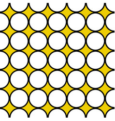 seamless white circles black border vector image